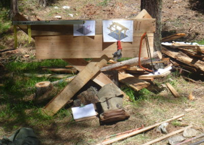 Impuls-Zeitgeist Projektarbeit Outdoor Team St. Moritz Hüttenbau